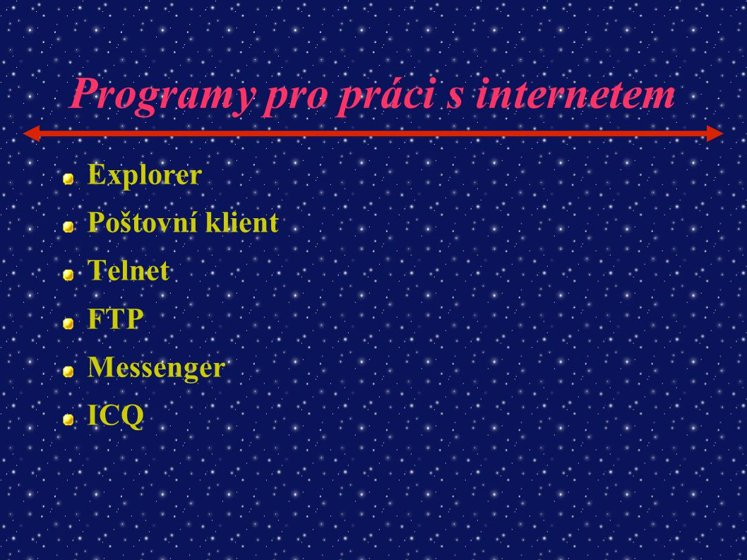 Programy pro práci s internetem