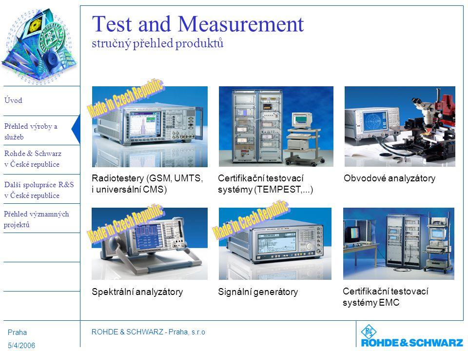 Test and Measurement stručný přehled produktů