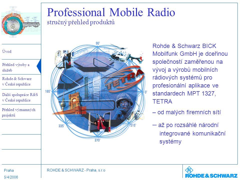 Professional Mobile Radio stručný přehled produktů