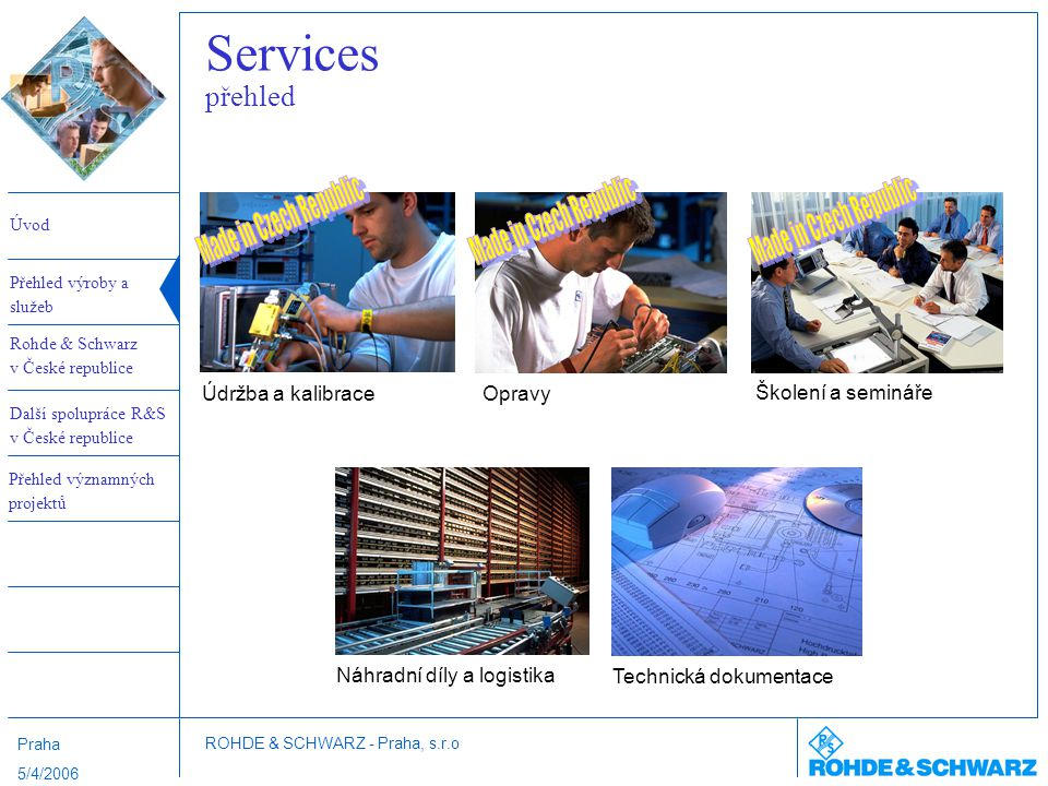 Services přehled Made in Czech Republic Made in Czech Republic
