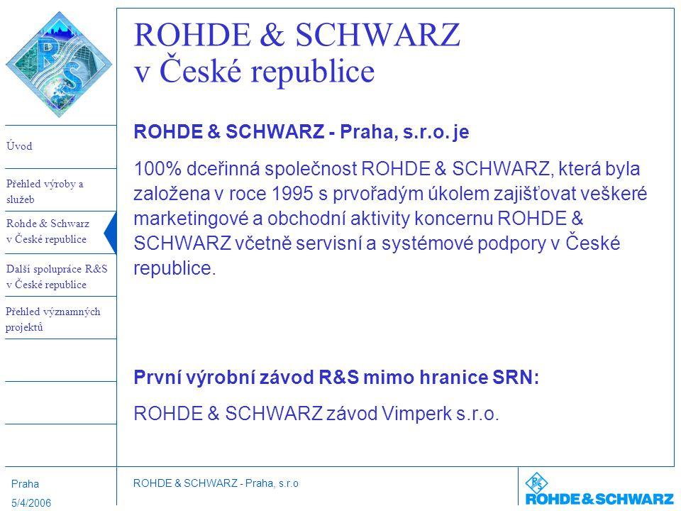 ROHDE & SCHWARZ v České republice