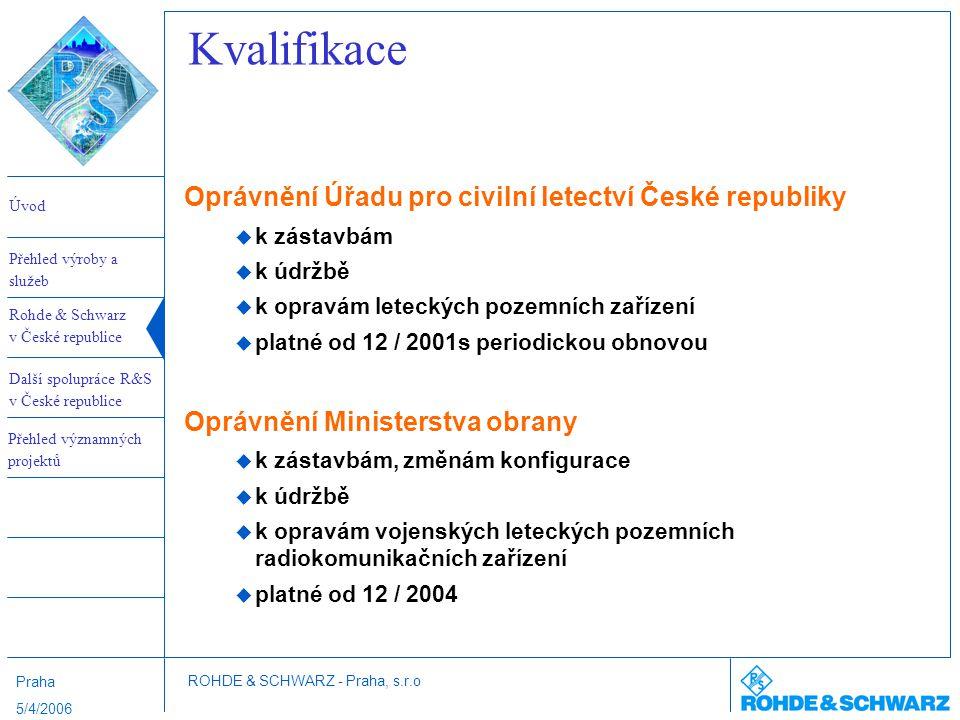 Kvalifikace Oprávnění Úřadu pro civilní letectví České republiky