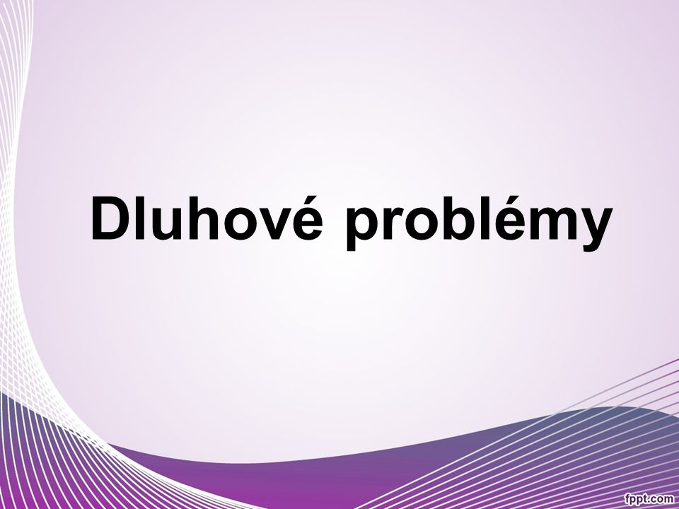 Dluhové problémy