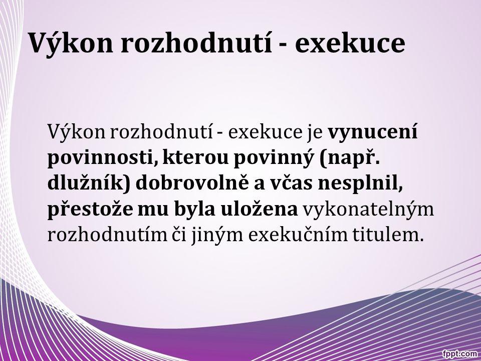 Výkon rozhodnutí - exekuce