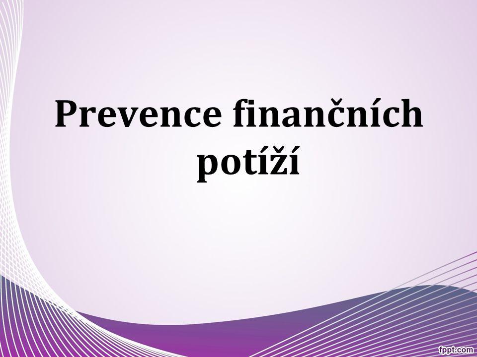Prevence finančních potíží