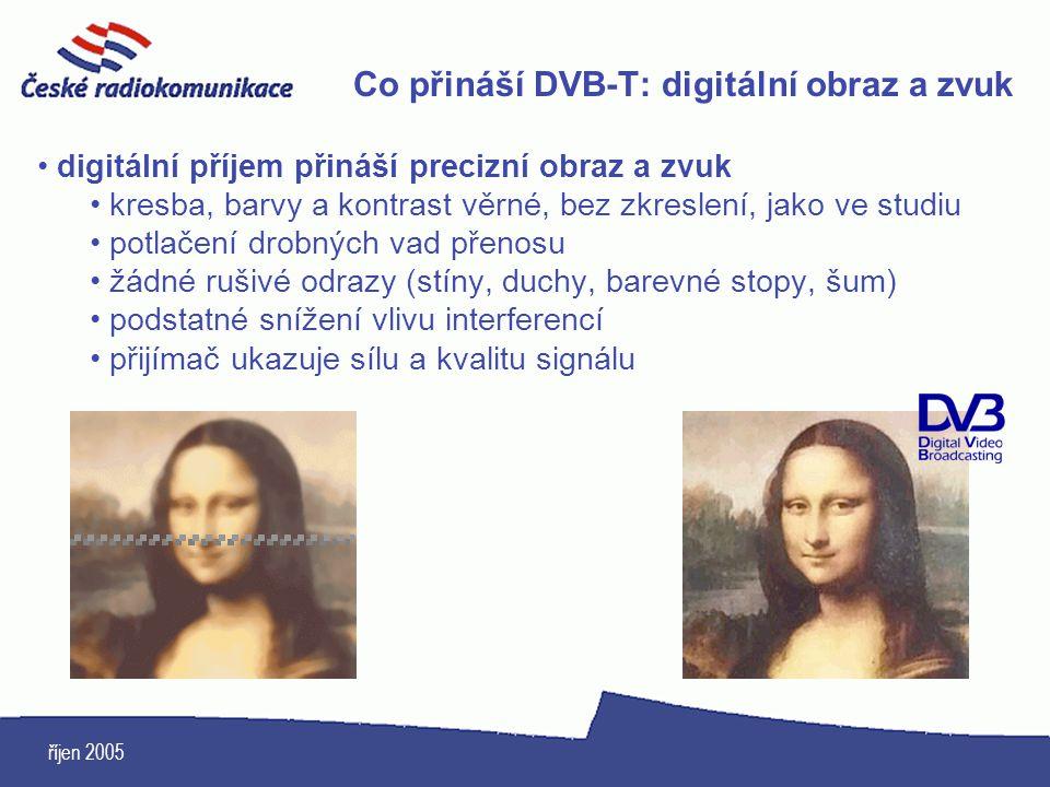 Co přináší DVB-T: digitální obraz a zvuk