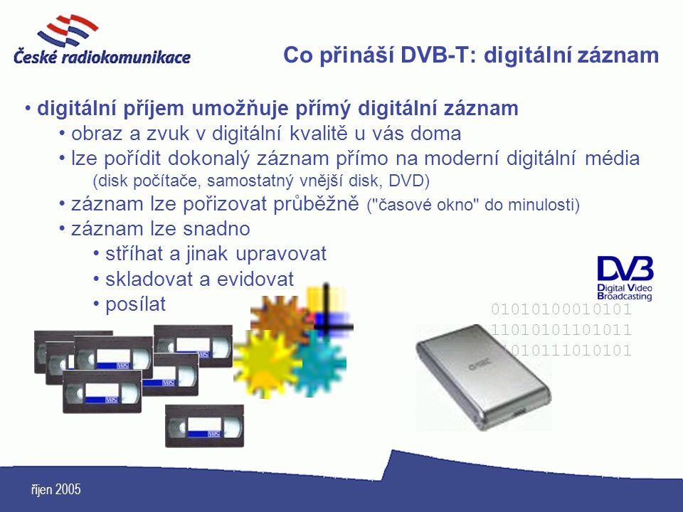 Co přináší DVB-T: digitální záznam