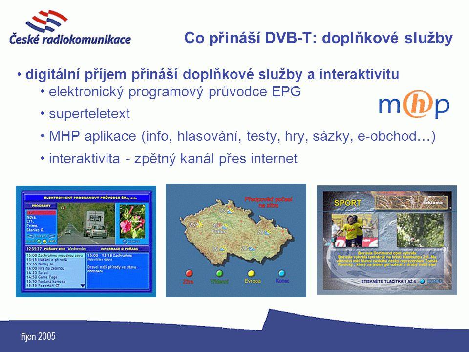 Co přináší DVB-T: doplňkové služby