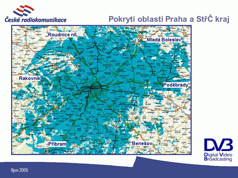 Pokrytí oblasti Praha a StřČ kraj