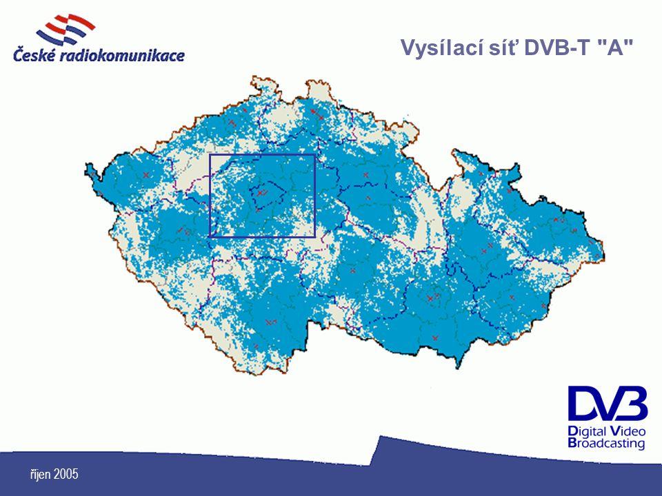 Vysílací síť DVB-T A říjen 2005