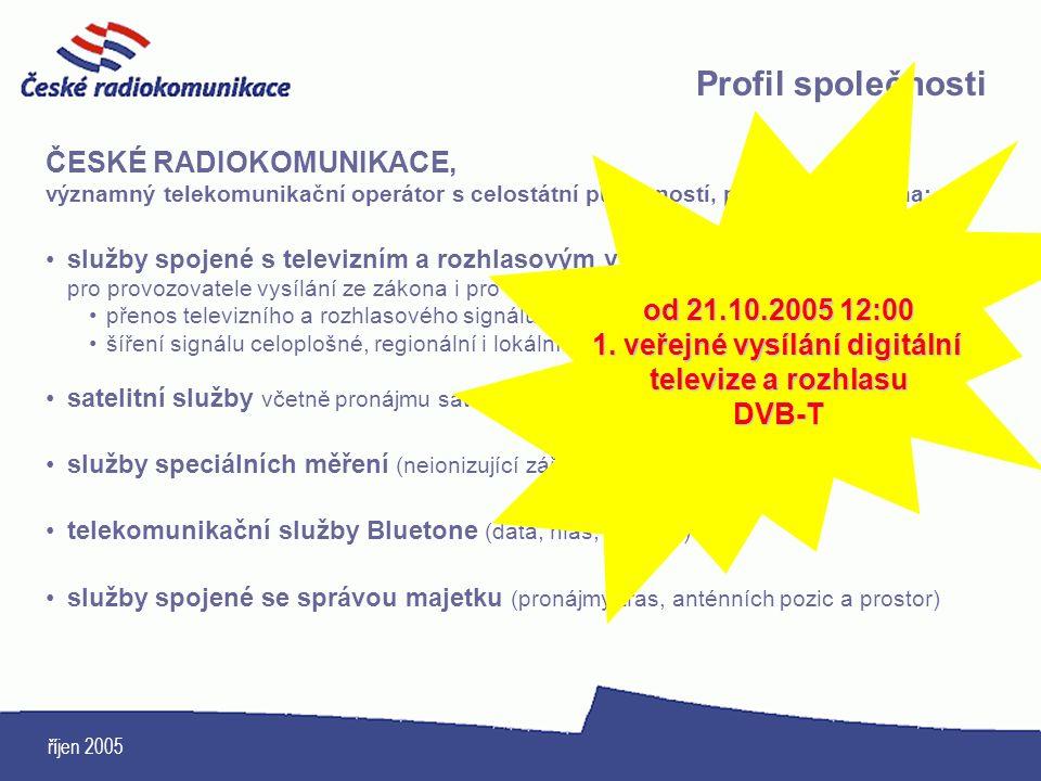 1. veřejné vysílání digitální televize a rozhlasu