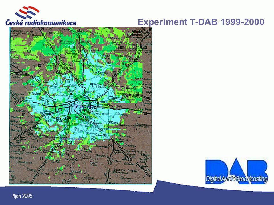 Experiment T-DAB 1999-2000 říjen 2005