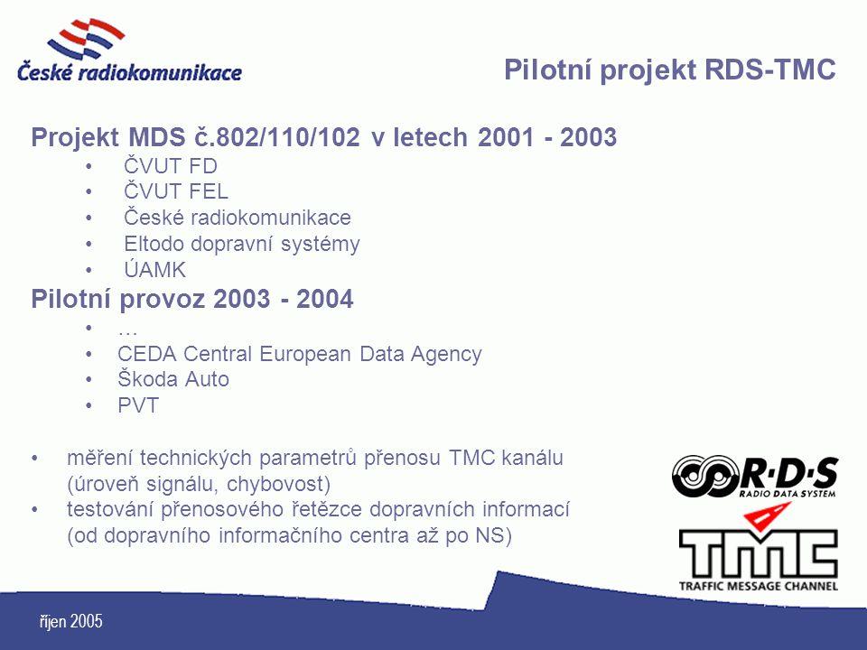 Pilotní projekt RDS-TMC