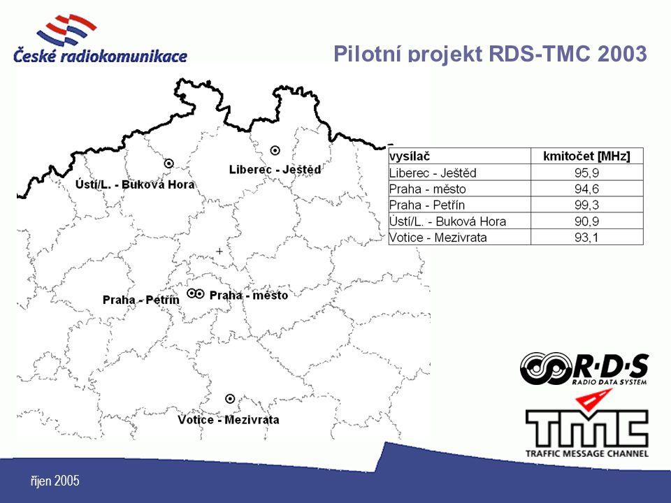 Pilotní projekt RDS-TMC 2003