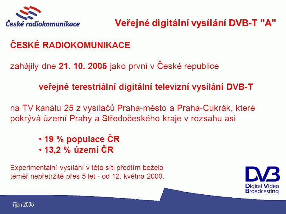 Veřejné digitální vysílání DVB-T A