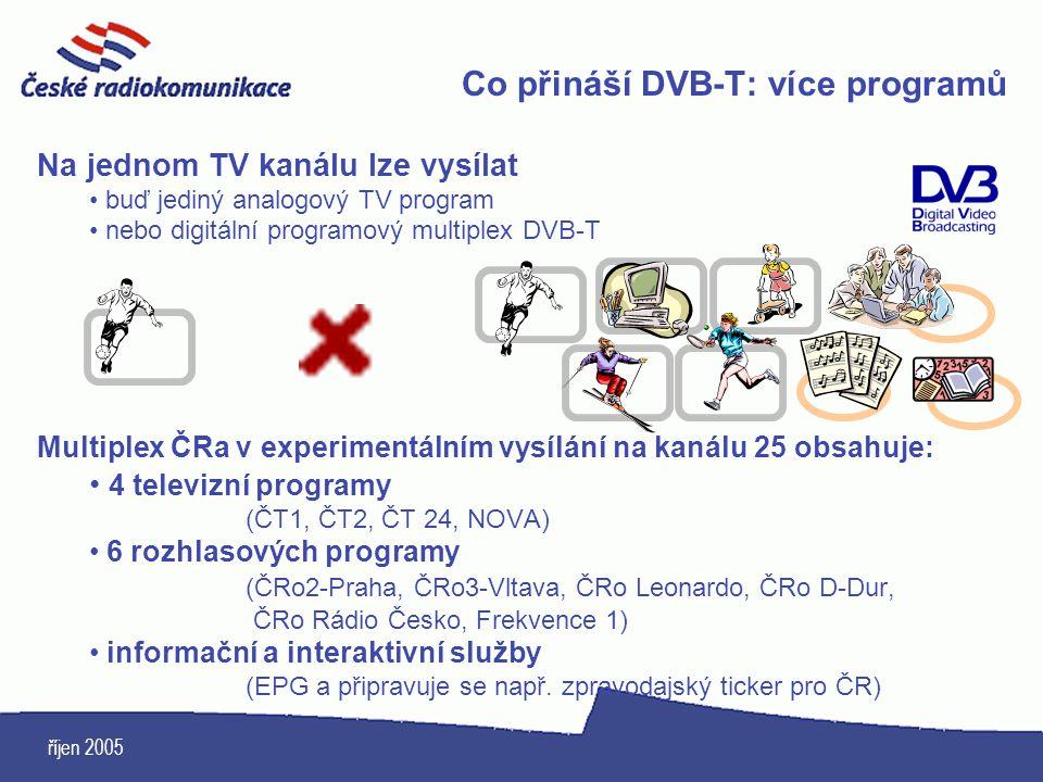 Co přináší DVB-T: více programů