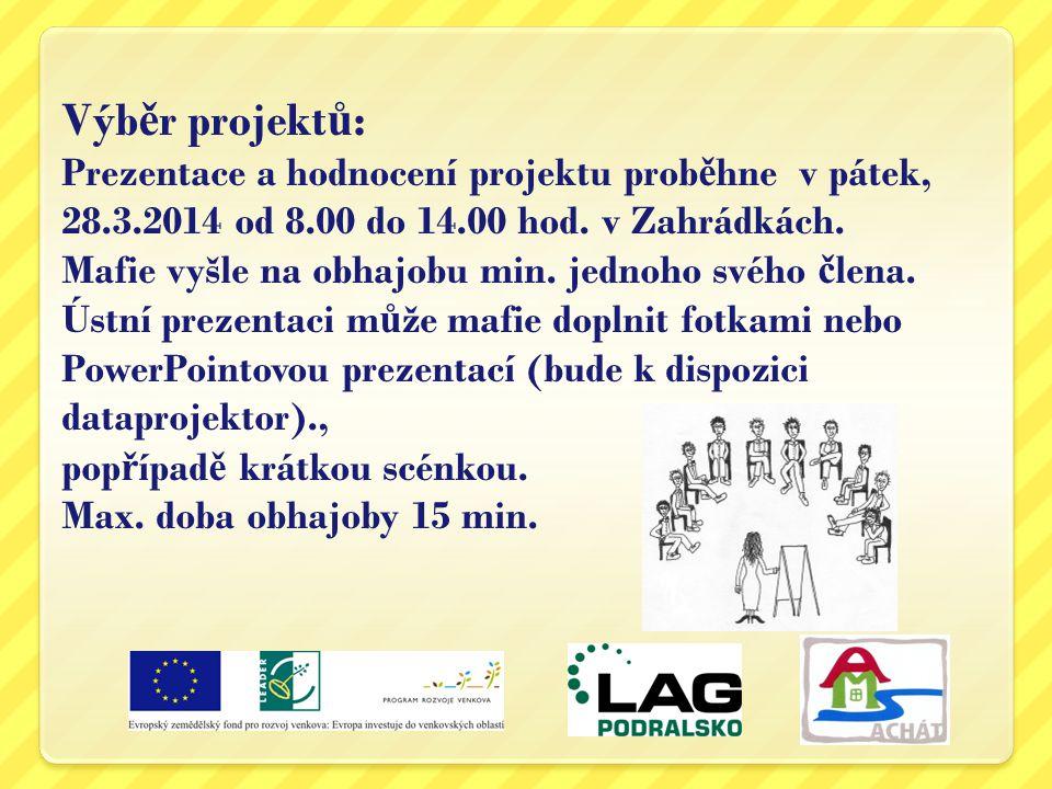 Výběr projektů: Prezentace a hodnocení projektu proběhne v pátek, 28.3.2014 od 8.00 do 14.00 hod.