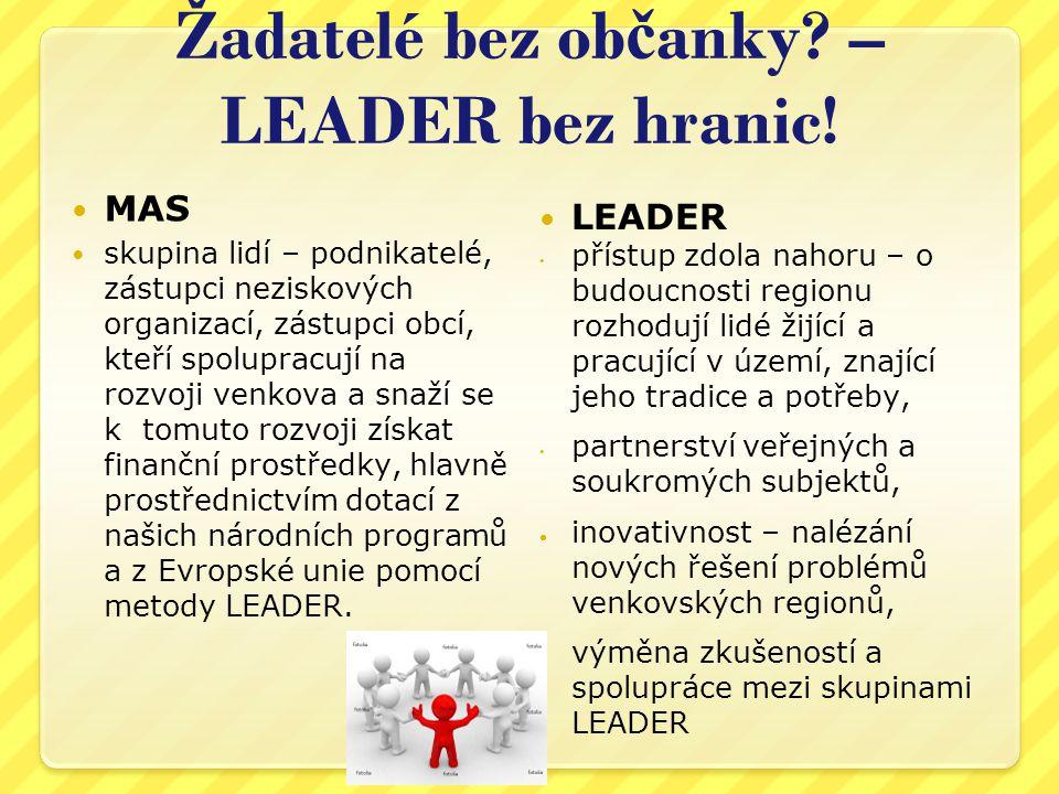Žadatelé bez občanky – LEADER bez hranic!