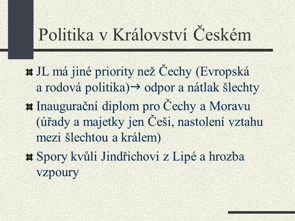 Politika v Království Českém
