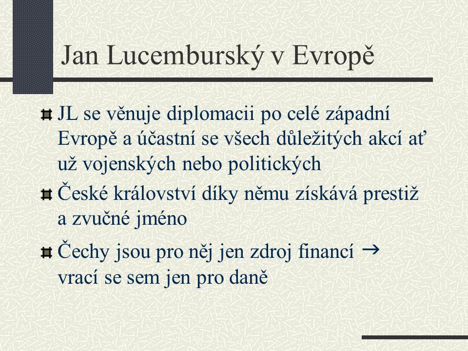 Jan Lucemburský v Evropě