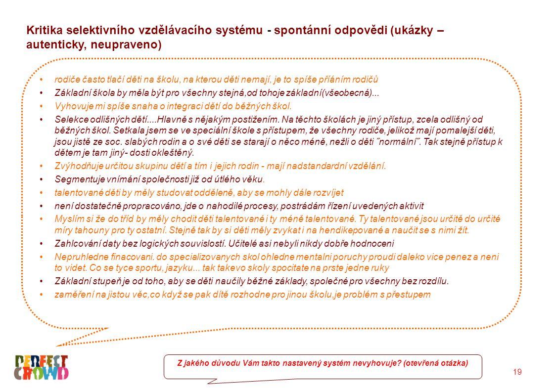 Postoje ke sloučenému vzdělávacímu systému