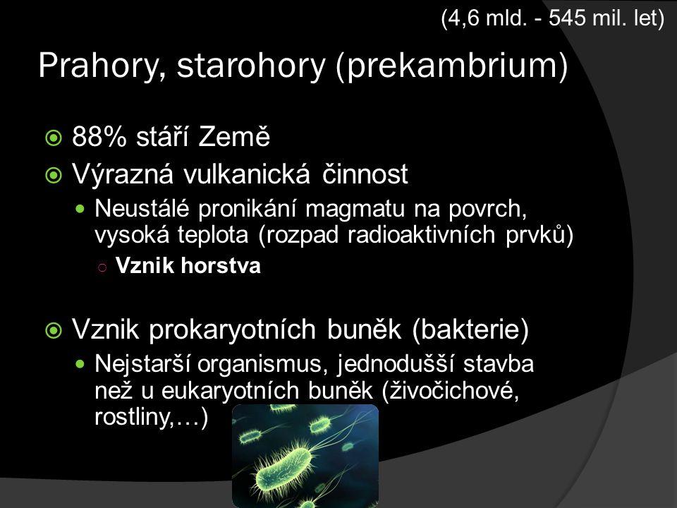 Prahory, starohory (prekambrium)