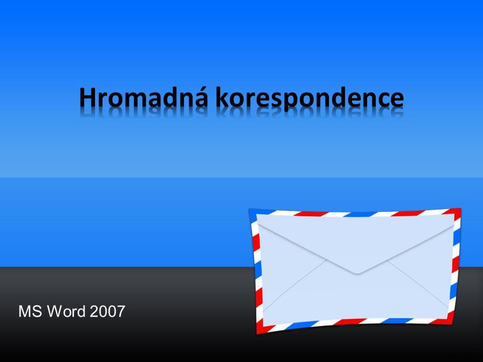 Hromadná korespondence