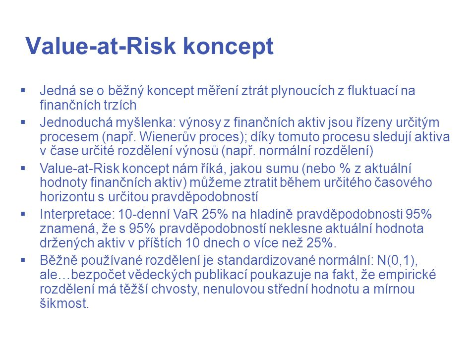 Value-at-Risk koncept