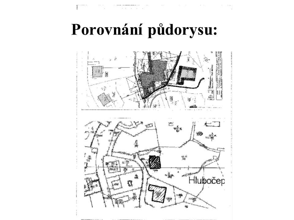 Porovnání půdorysu: