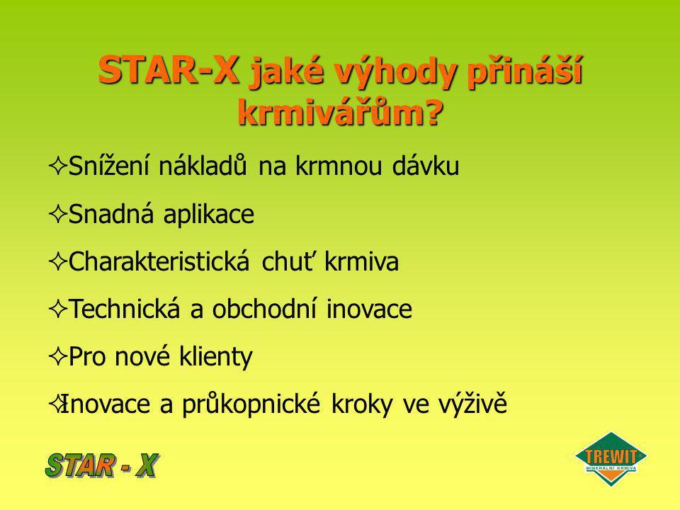 STAR-X jaké výhody přináší krmivářům