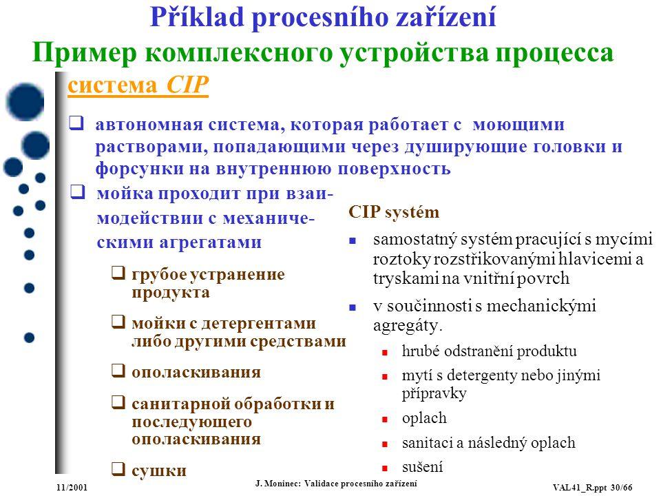 Příklad procesního zařízení Пример комплексного устройства процесса