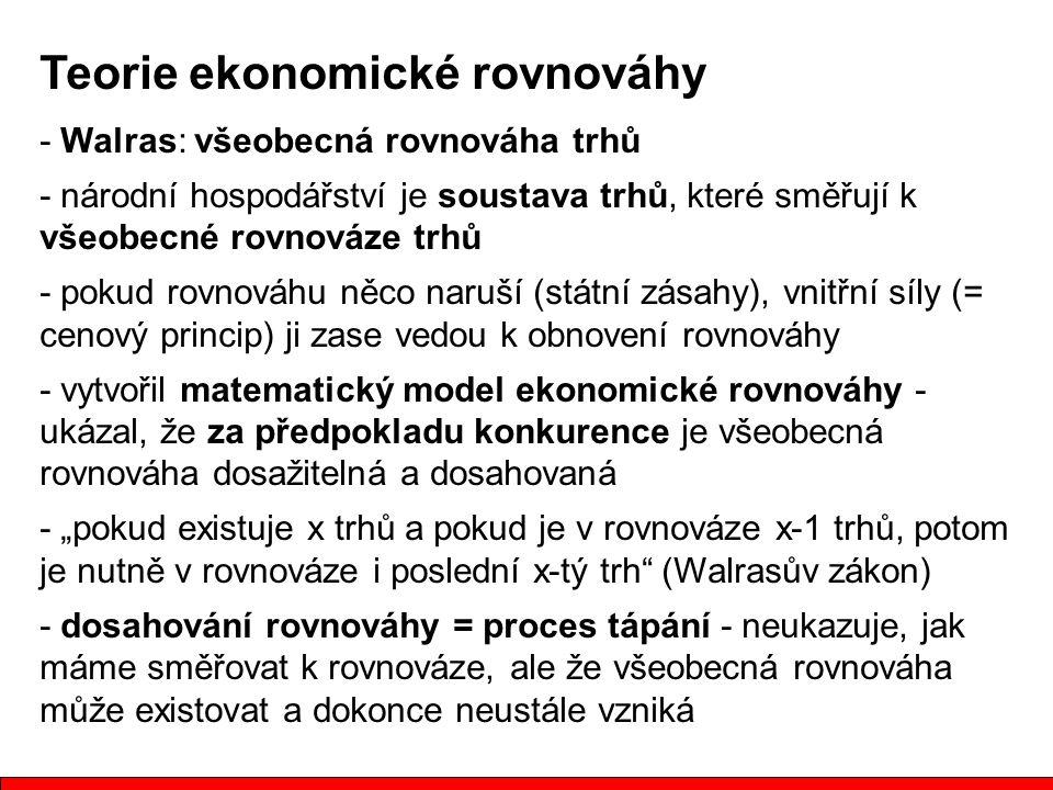 Teorie ekonomické rovnováhy
