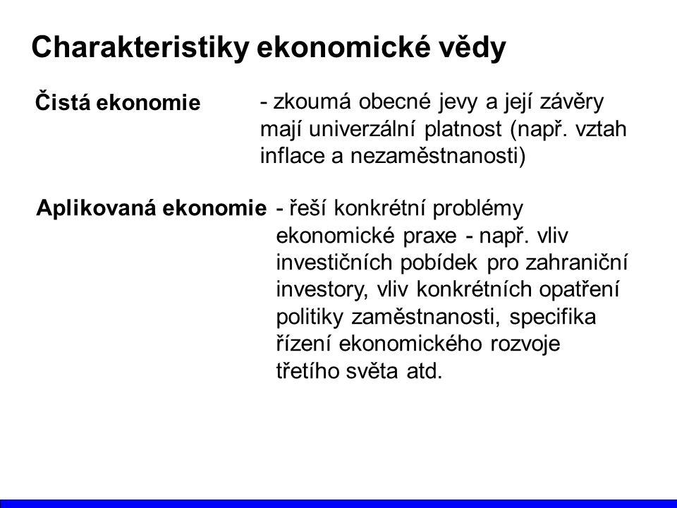 Charakteristiky ekonomické vědy