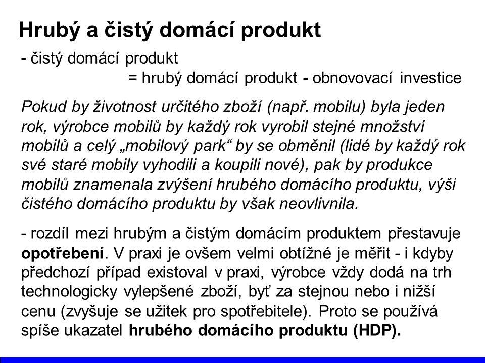 Hrubý a čistý domácí produkt