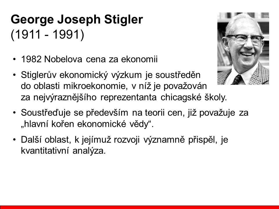 George Joseph Stigler (1911 - 1991)