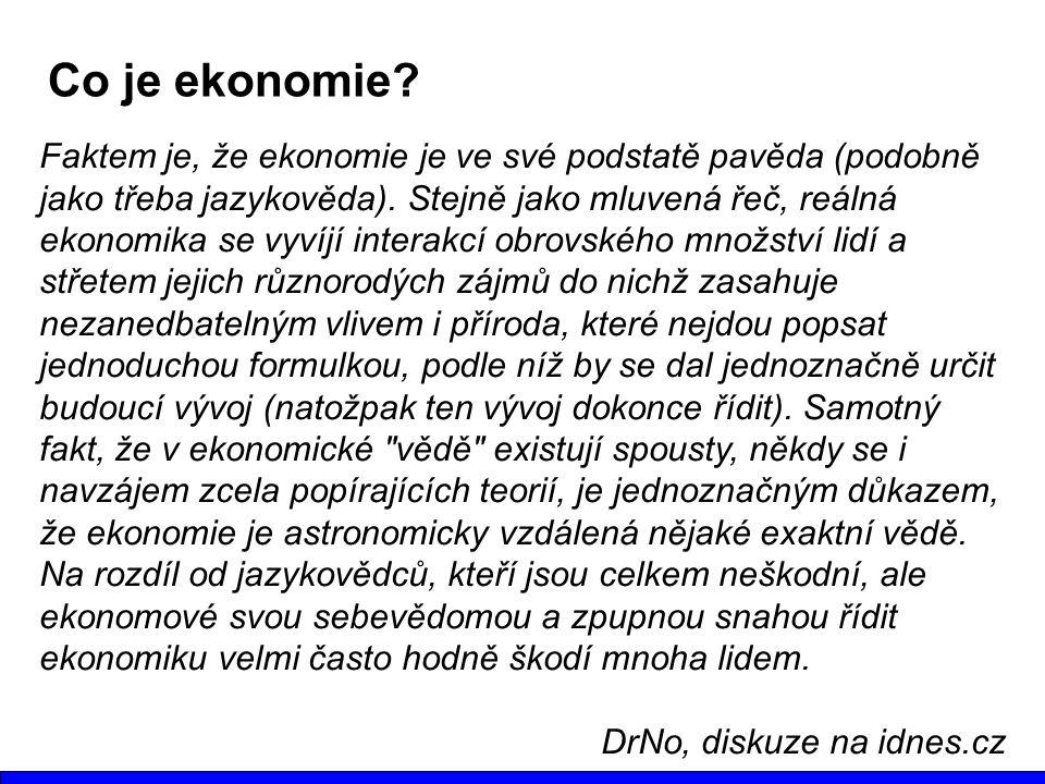 Co je ekonomie