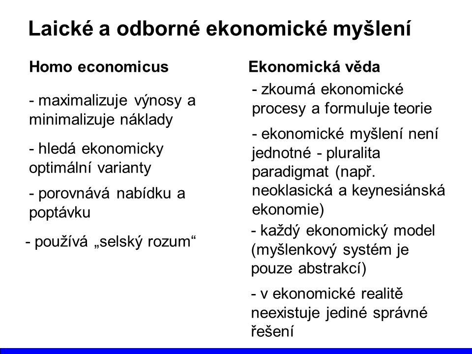 Laické a odborné ekonomické myšlení