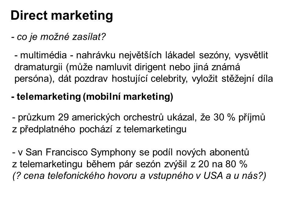Direct marketing - co je možné zasílat