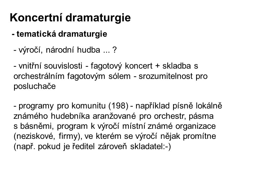 Koncertní dramaturgie