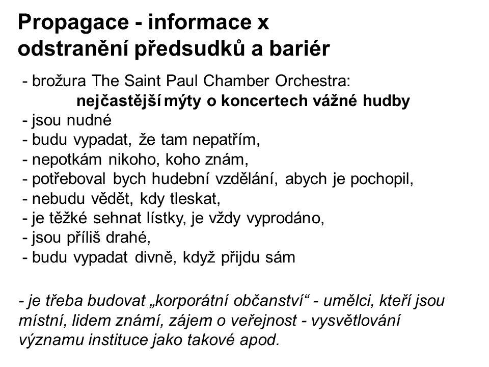 Propagace - informace x odstranění předsudků a bariér