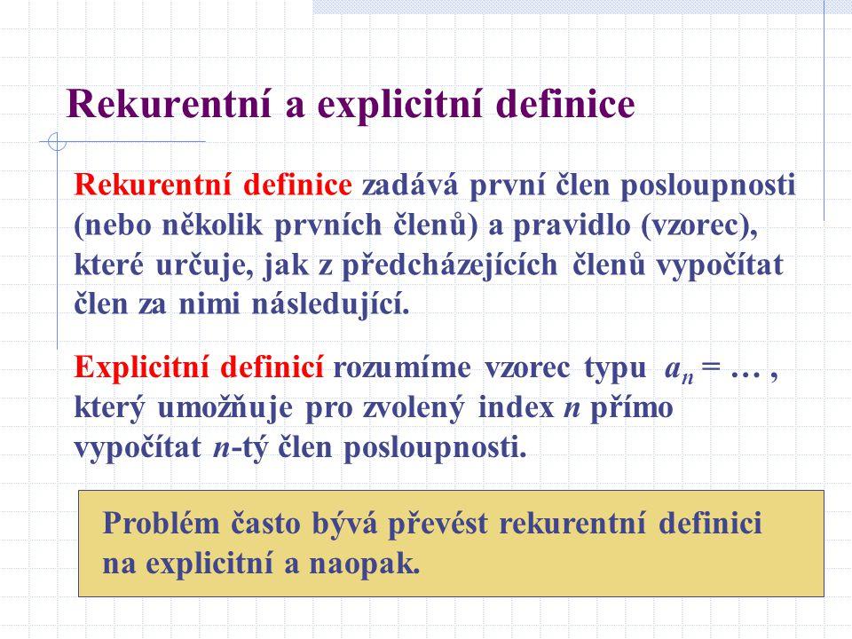 Rekurentní a explicitní definice