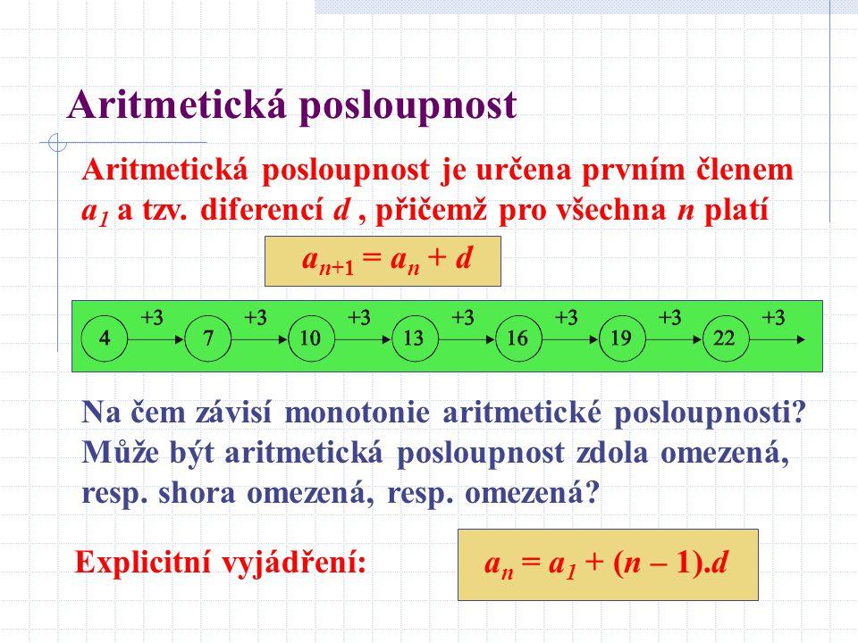 Aritmetická posloupnost