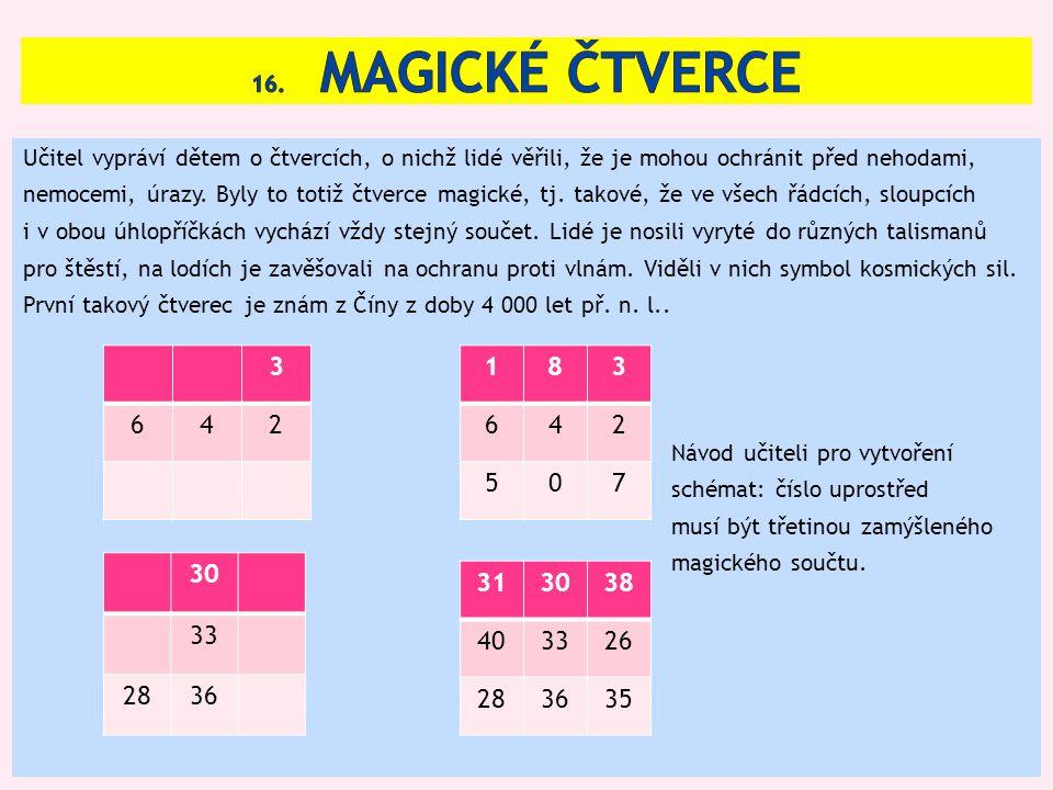16. Magické čtverce