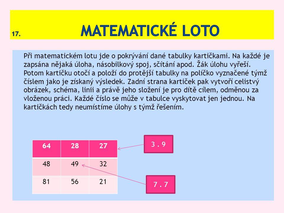 17. Matematické loto