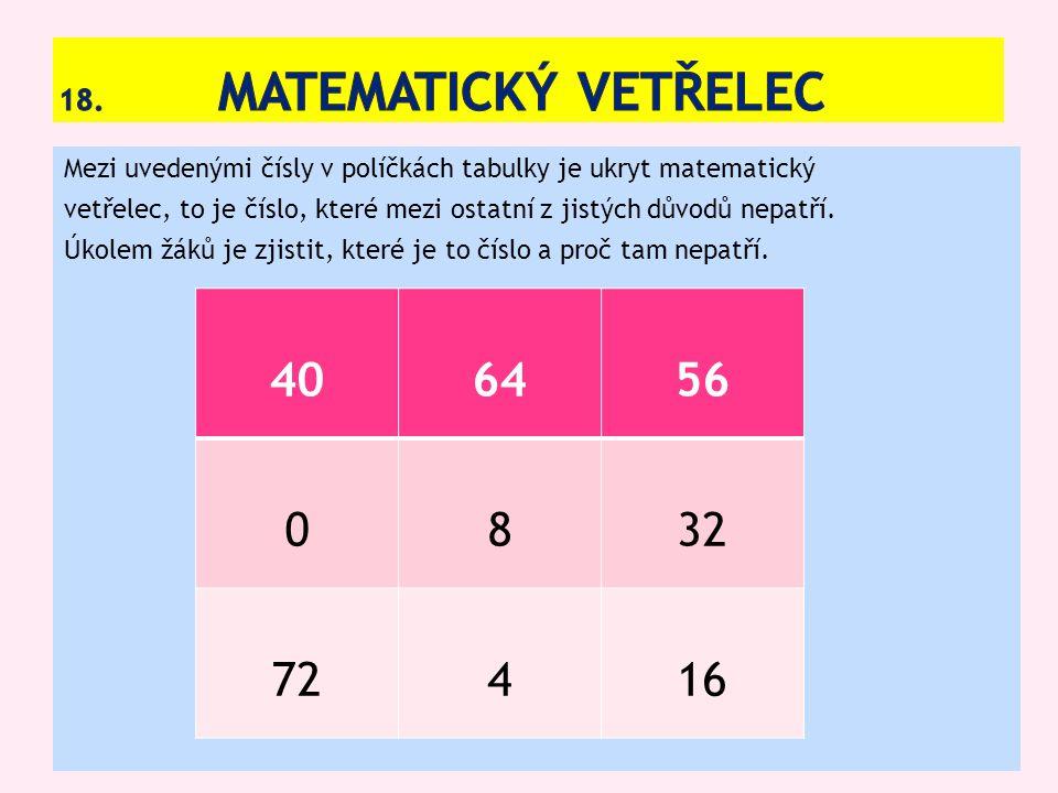 18. Matematický vetřelec