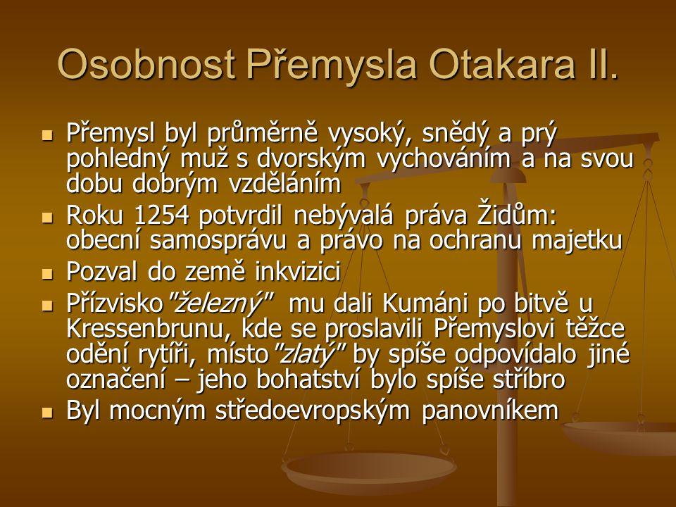 Osobnost Přemysla Otakara II.