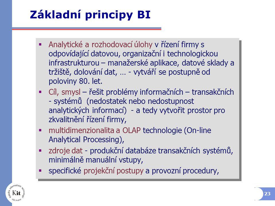 Základní principy BI