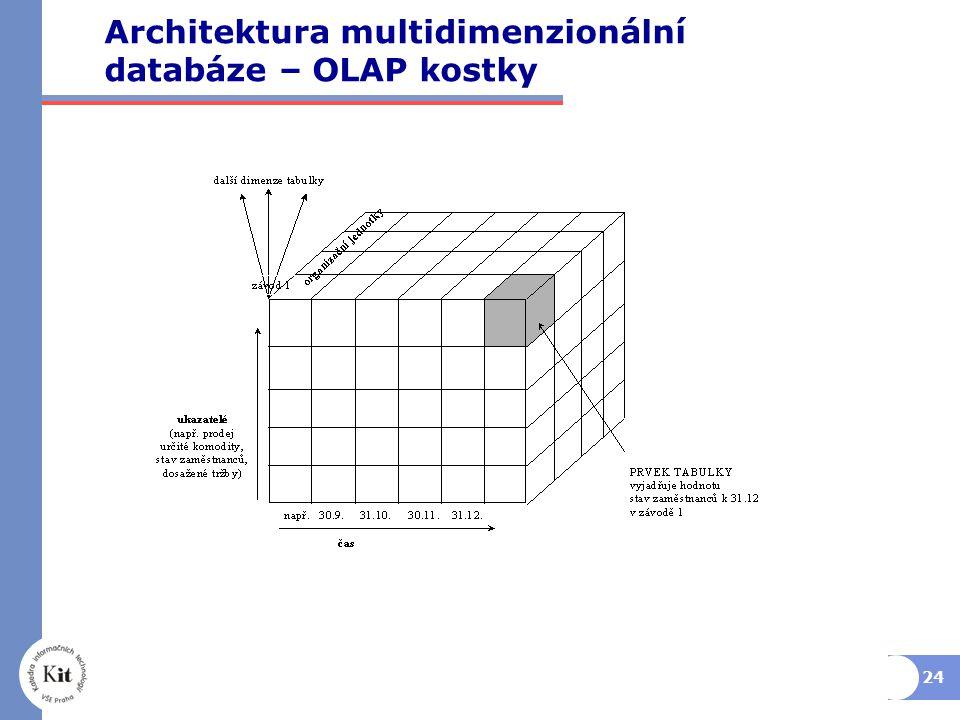 Architektura multidimenzionální databáze – OLAP kostky