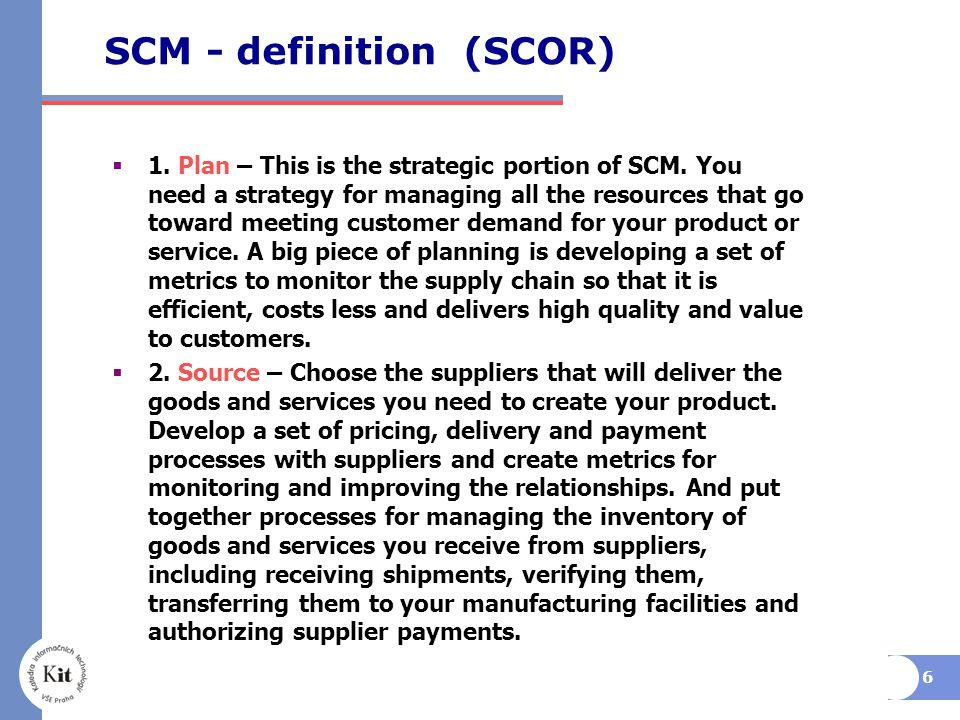 SCM - definition (SCOR)