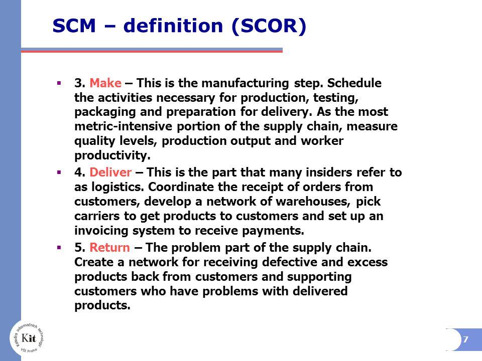 SCM – definition (SCOR)